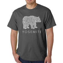 Load image into Gallery viewer, LA Pop Art  Men's Word Art T-shirt - Yosemite Bear