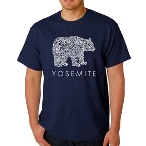 LA Pop Art  Men's Word Art T-shirt - Yosemite Bear