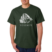 Load image into Gallery viewer, LA Pop Art  Men's Word Art T-shirt - Yosemite