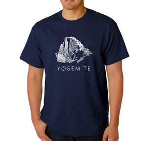LA Pop Art  Men's Word Art T-shirt - Yosemite