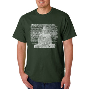 LA Pop Art Men's Word Art T-shirt - Zen Buddha