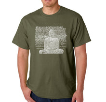Load image into Gallery viewer, LA Pop Art Men's Word Art T-shirt - Zen Buddha