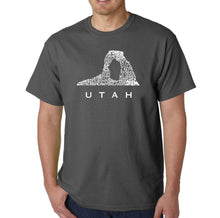 Load image into Gallery viewer, LA Pop Art Men's Word Art T-shirt - Utah
