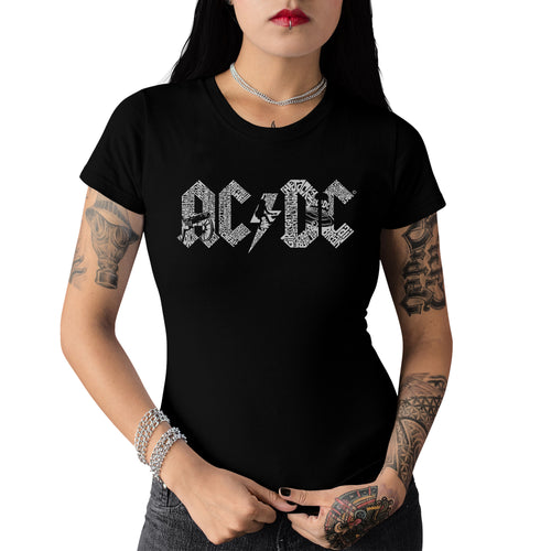 LA Pop Art Women's Word Art T-Shirt - AC/DC