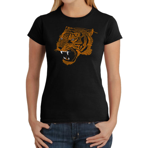 LA Pop Art Women's Word Art T-Shirt - Beast Mode