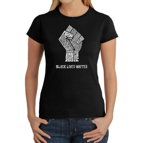 LA Pop Art Women's Word Art T-Shirt - Black Lives Matter