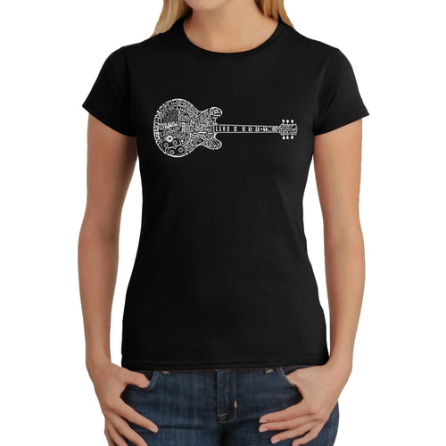 LA Pop Art  Women's Word Art T-Shirt - Blues Legends
