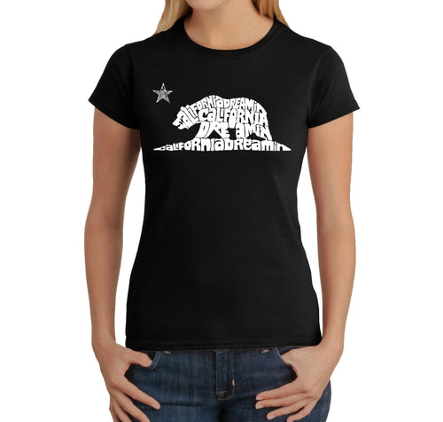 LA Pop Art Women's Word Art T-Shirt - California Dreamin