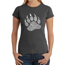 Load image into Gallery viewer, LA Pop Art  Women's Word Art T-Shirt - Types of Bears