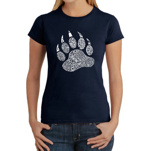 LA Pop Art  Women's Word Art T-Shirt - Types of Bears