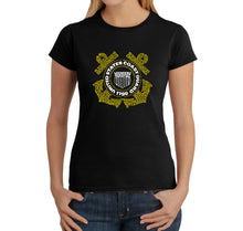 Load image into Gallery viewer, LA Pop Art Women's Word Art T-Shirt - Coast Guard