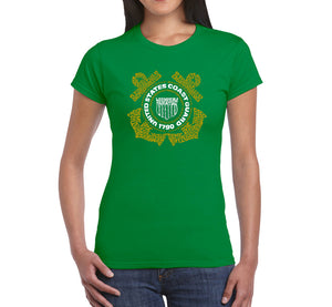 LA Pop Art Women's Word Art T-Shirt - Coast Guard