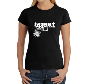 LA Pop Art  Women's Word Art T-Shirt - Out of My cold Dead Hands Gun