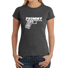 Load image into Gallery viewer, LA Pop Art  Women's Word Art T-Shirt - Out of My cold Dead Hands Gun