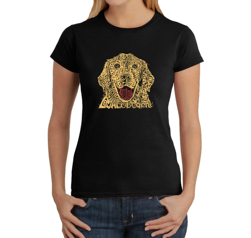 LA Pop Art Women's Word Art T-Shirt - Dog
