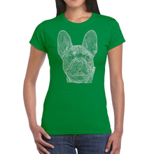 Load image into Gallery viewer, LA Pop Art Women's Word Art T-Shirt - French Bulldog