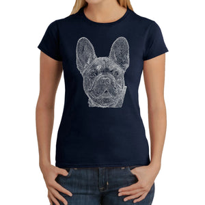 LA Pop Art Women's Word Art T-Shirt - French Bulldog