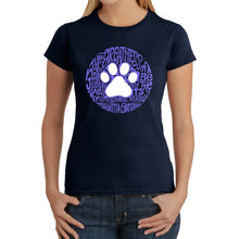 Load image into Gallery viewer, LA Pop Art  Women's Word Art T-Shirt - Gandhi's Quote on Animal Treatment