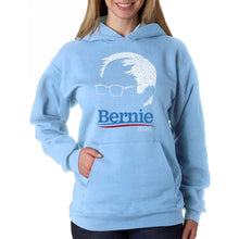 Load image into Gallery viewer, LA Pop Art Women's Word Art Hooded Sweatshirt -BERNIE