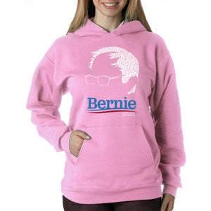 LA Pop Art Women's Word Art Hooded Sweatshirt -BERNIE