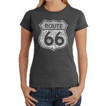 Load image into Gallery viewer, LA Pop Art Women's Word Art T-Shirt - Life is a Highway