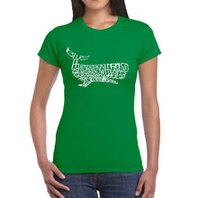 Load image into Gallery viewer, LA Pop Art  Women's Word Art T-Shirt - Humpback Whale