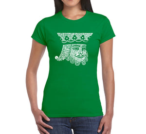 LA Pop Art Women's Word Art T-Shirt - King of Spades