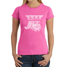 Load image into Gallery viewer, LA Pop Art Women's Word Art T-Shirt - King of Spades