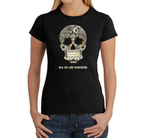 LA Pop Art Women's Word Art T-Shirt - Dia De Los Muertos
