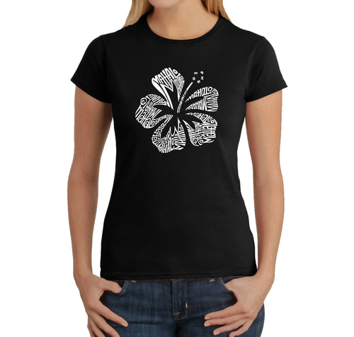 LA Pop Art Women's Word Art T-Shirt - Mahalo