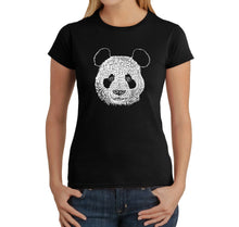Load image into Gallery viewer, LA Pop Art Women's Word Art T-Shirt - Panda