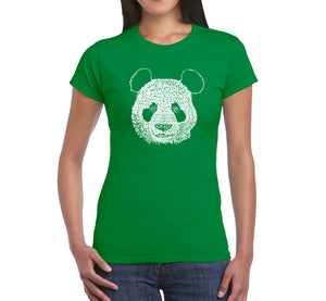 LA Pop Art Women's Word Art T-Shirt - Panda