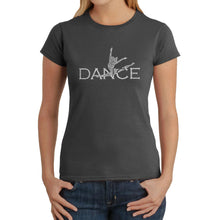 Load image into Gallery viewer, LA Pop Art Women's Word Art T-Shirt - Dancer