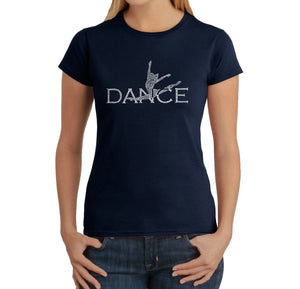 LA Pop Art Women's Word Art T-Shirt - Dancer