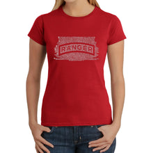 Load image into Gallery viewer, LA Pop Art Women's Word Art T-Shirt - The US Ranger Creed