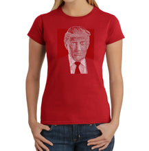 Load image into Gallery viewer, LA Pop Art Women's Word Art T-Shirt - TRUMP 2016 - Make America Great Again