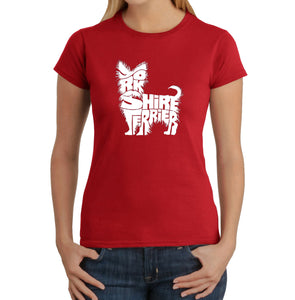 LA Pop Art Women's Word Art T-Shirt - Yorkie