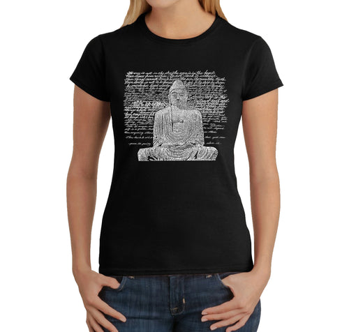 LA Pop Art Women's Word Art T-Shirt - Zen Buddha