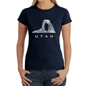LA Pop Art Women's Word Art T-Shirt - Utah