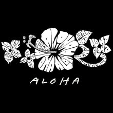 Load image into Gallery viewer, LA Pop Art Women's Premium Blend Word Art T-shirt - ALOHA