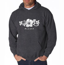 Load image into Gallery viewer, LA Pop Art Men's Word Art Hooded Sweatshirt - ALOHA