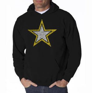 LA Pop Art Men's Word Art Hooded Sweatshirt - LYRICS TO THE ARMY SONG
