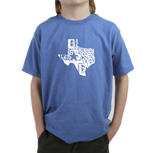 Load image into Gallery viewer, LA Pop Art Boy's Word Art T-shirt - Everything is Bigger in Texas