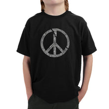 Load image into Gallery viewer, LA Pop Art Boy's Word Art T-shirt - EVERY MAJOR WORLD CONFLICT SINCE 1770