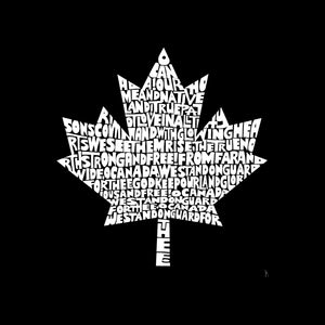LA Pop Art Men's Word Art T-shirt - CANADIAN NATIONAL ANTHEM