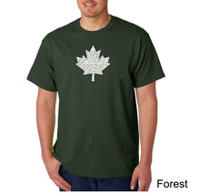 Load image into Gallery viewer, LA Pop Art Men's Word Art T-shirt - CANADIAN NATIONAL ANTHEM