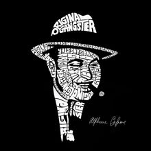Load image into Gallery viewer, LA Pop Art Women's Word Art T-Shirt - AL CAPONE-ORIGINAL GANGSTER