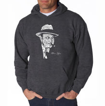 Load image into Gallery viewer, LA Pop Art Men's Word Art Hooded Sweatshirt - AL CAPONE-ORIGINAL GANGSTER