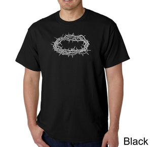 LA Pop Art Men's Word Art T-shirt - CROWN OF THORNS