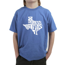 Load image into Gallery viewer, LA Pop Art Boy's Word Art T-shirt - DONT MESS WITH TEXAS